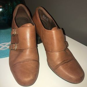 Clark's women's booties- size 9 Brown